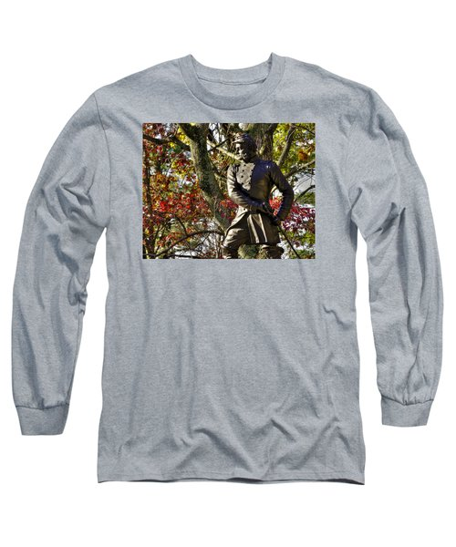 Pennsylvania At Gettysburg - Col Strong Vincent 83rd Pa Volunteer Infantry Close-2b Little Round Top Long Sleeve T-Shirt