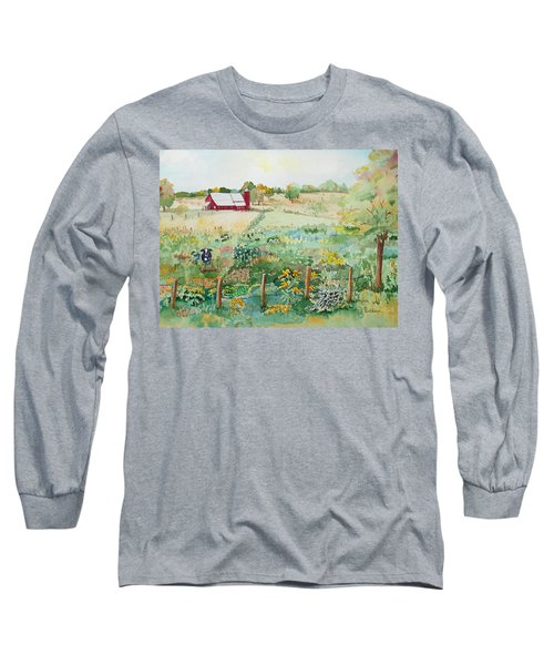 Pennsylvania Pasture Long Sleeve T-Shirt by Christine Lathrop
