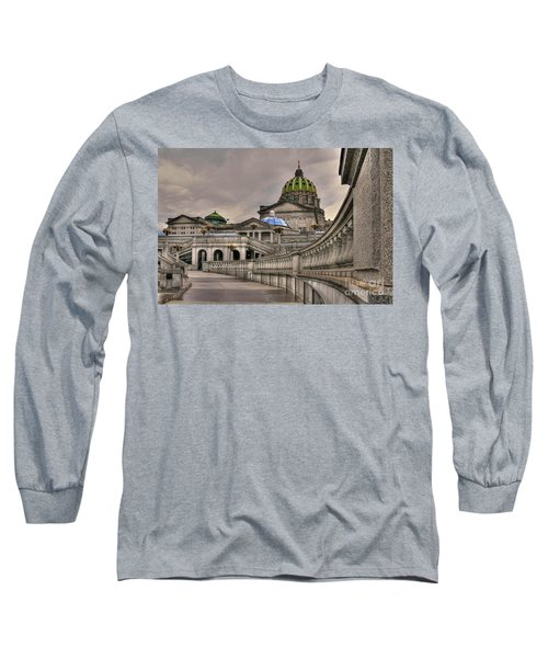 Pennsylvania State Capital Long Sleeve T-Shirt by Lois Bryan