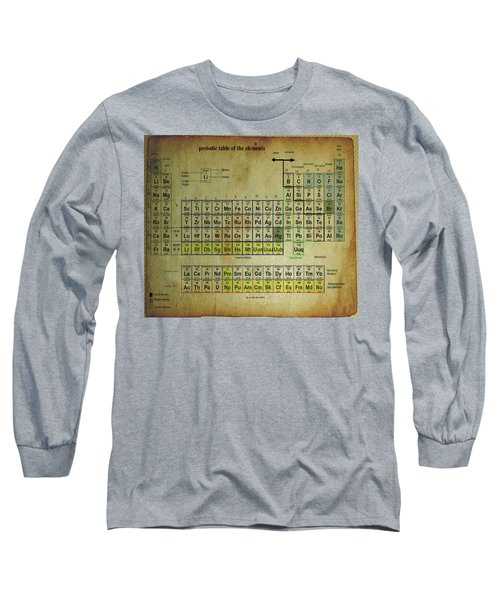 Long Sleeve T-Shirt featuring the mixed media Periodic Table Of Elements by Brian Reaves