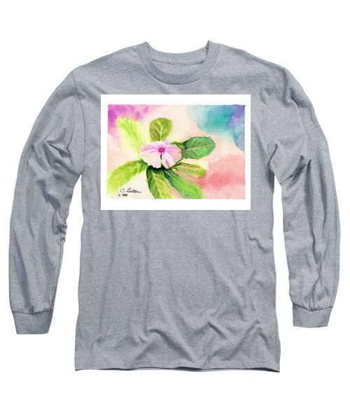 Periwinkle Long Sleeve T-Shirt by C Sitton