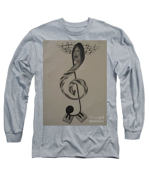 Personification Of Music Long Sleeve T-Shirt by Jeepee Aero
