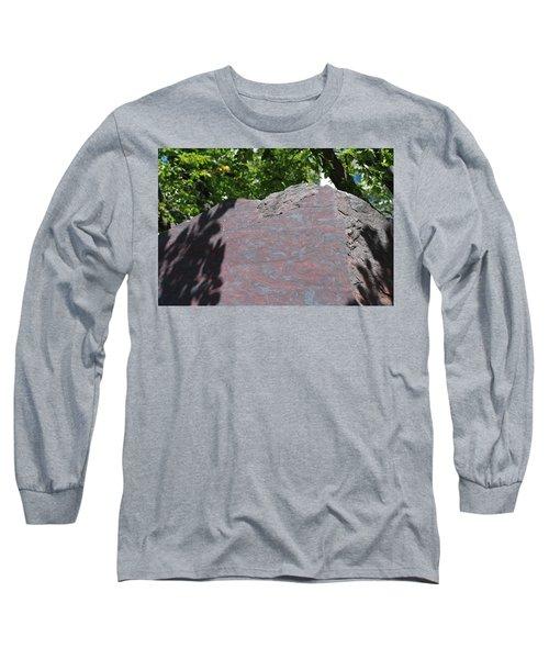 Petrified Wood On Display Long Sleeve T-Shirt