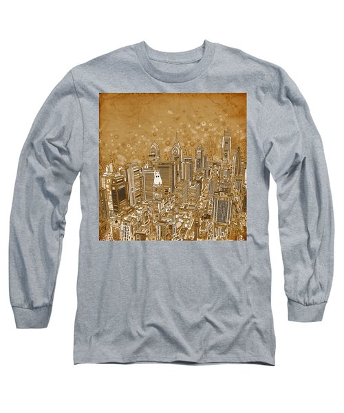 Philadelphia Panorama Vintage Long Sleeve T-Shirt