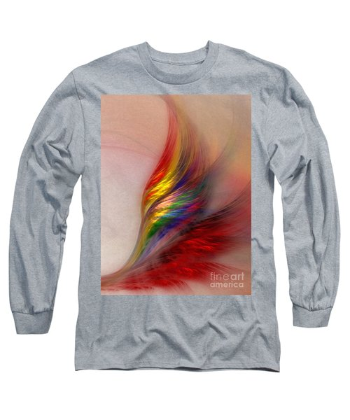 Phoenix-abstract Art Long Sleeve T-Shirt