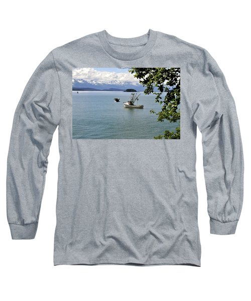 Photo Bomb Long Sleeve T-Shirt by Cathy Mahnke
