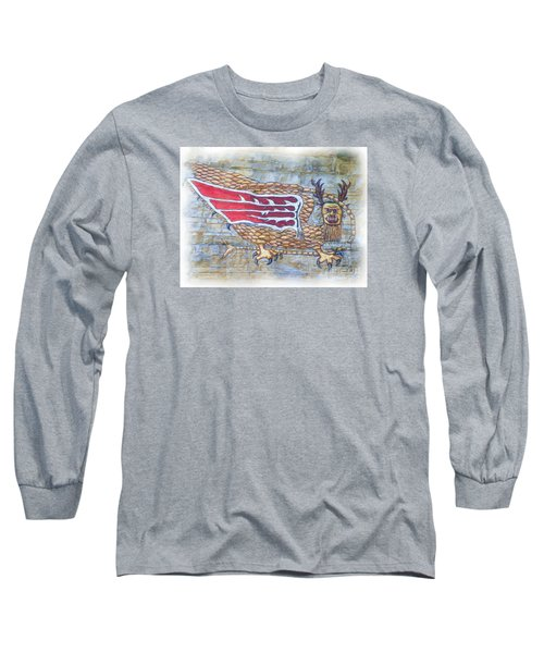 Long Sleeve T-Shirt featuring the photograph Piasa Bird In Oils by Kelly Awad