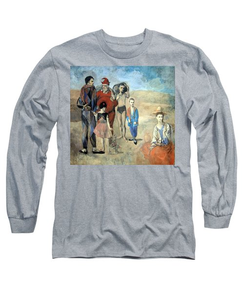Picasso's Family Of Saltimbanques Long Sleeve T-Shirt by Cora Wandel