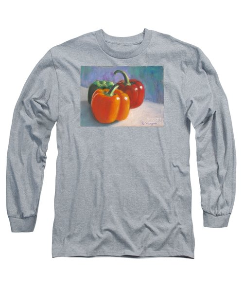 Pick A Pepper Long Sleeve T-Shirt by Laurie Morgan