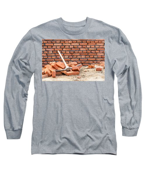 Pickaxe On A Construction Site Long Sleeve T-Shirt