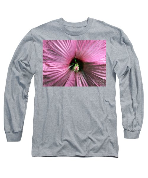 Pie Plate Hibiscus Long Sleeve T-Shirt