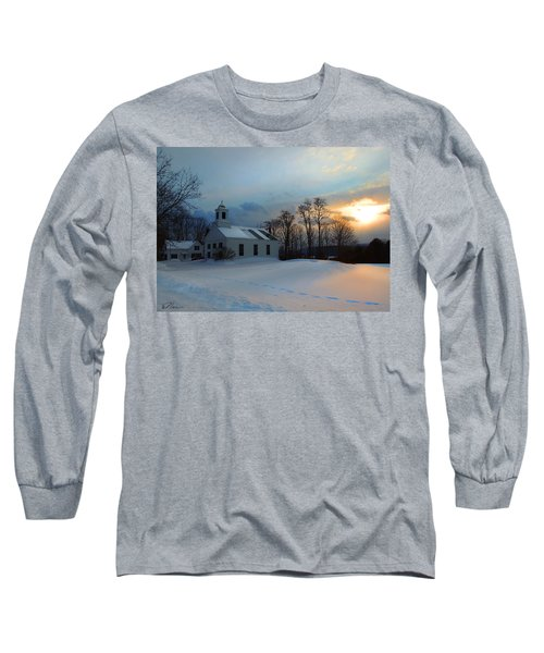 Piermont Church In Winter Light Long Sleeve T-Shirt