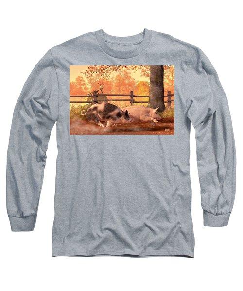 Pig Race Long Sleeve T-Shirt