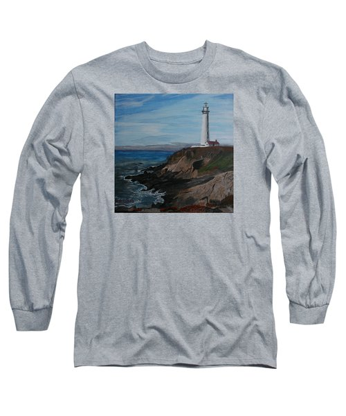 Long Sleeve T-Shirt featuring the painting Pigeon Lighthouse Daytime Titrad by Ian Donley