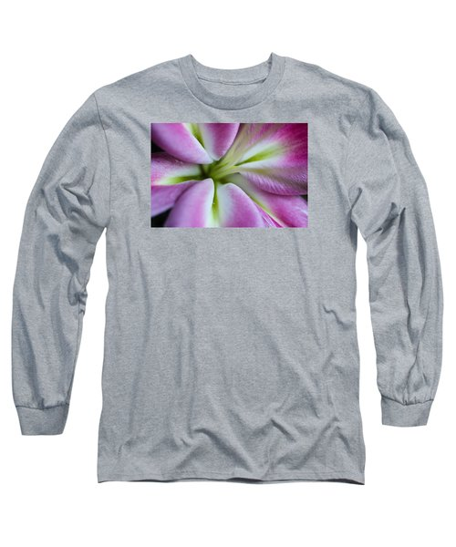 Pink Asiatic Lily Long Sleeve T-Shirt by Julie Andel
