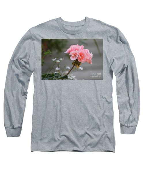 Pink Geranium Long Sleeve T-Shirt