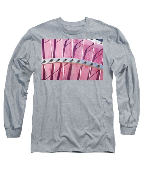 Pink Marquee In Lights Long Sleeve T-Shirt