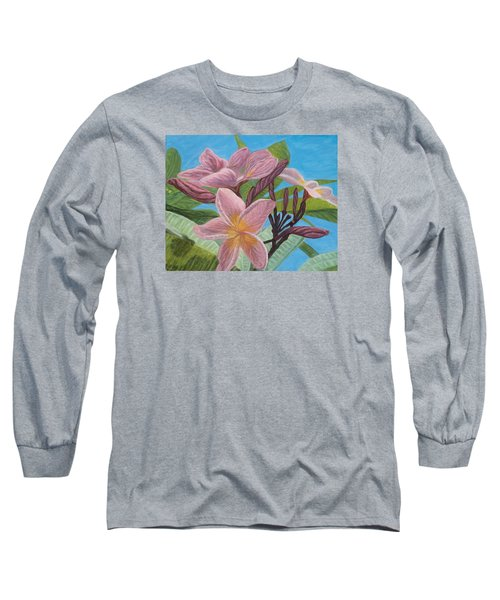 Pink Plumeria Long Sleeve T-Shirt