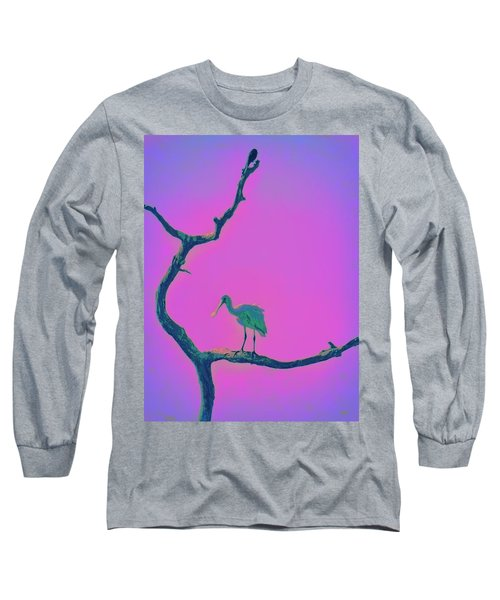 Pink Spoonbill Long Sleeve T-Shirt