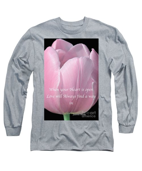 Pink Spring Tulip Long Sleeve T-Shirt