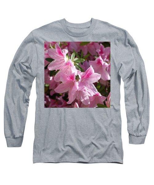 Pink Star Azaleas In Full Bloom Long Sleeve T-Shirt