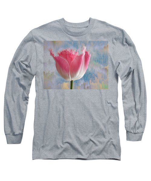 Pink Tulip Long Sleeve T-Shirt