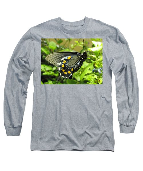 Pipevine Swallowtail Long Sleeve T-Shirt by Jennifer Wheatley Wolf