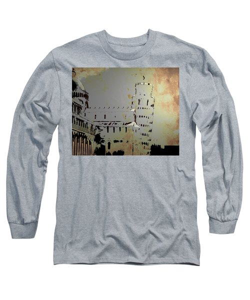 Long Sleeve T-Shirt featuring the digital art Pisa Italy 1 by Brian Reaves