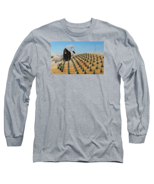 Planting Flowers Long Sleeve T-Shirt by Angel Ortiz