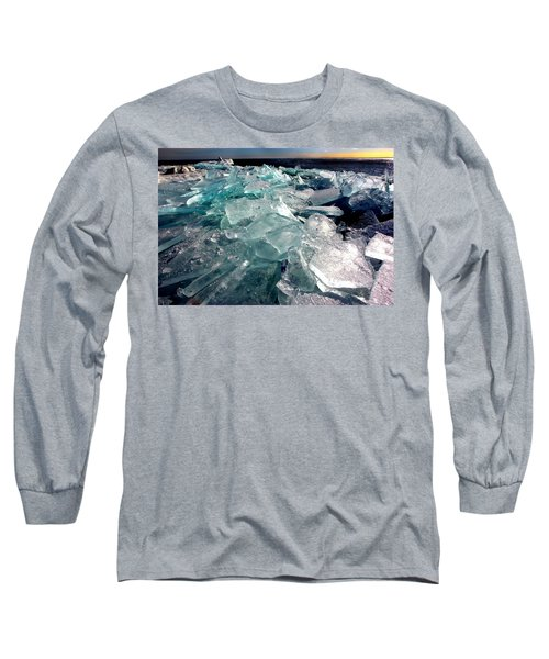 Plate Ice  Long Sleeve T-Shirt by Amanda Stadther