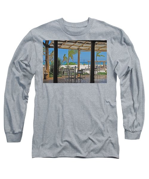Playa Blanca Restaurant Bar Area Punta Cana Dominican Republic Long Sleeve T-Shirt