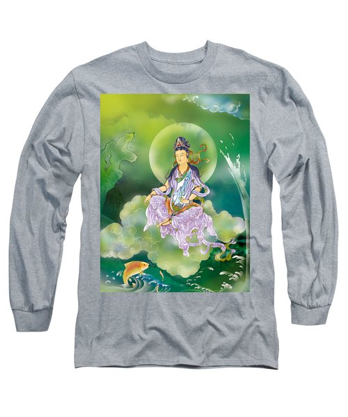 Long Sleeve T-Shirt featuring the photograph Playing Avalokitesvara   by Lanjee Chee