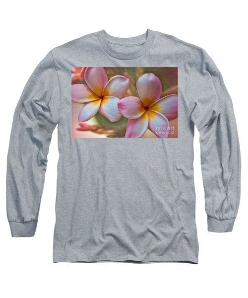 Plumeria Pair Long Sleeve T-Shirt by Peggy Hughes