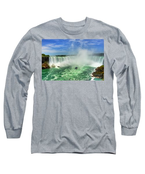 Point Of Land Cut In Two.. Long Sleeve T-Shirt