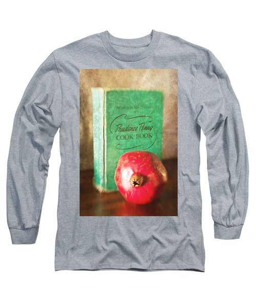 Pomegranate And Vintage Cook Book Still Life Long Sleeve T-Shirt