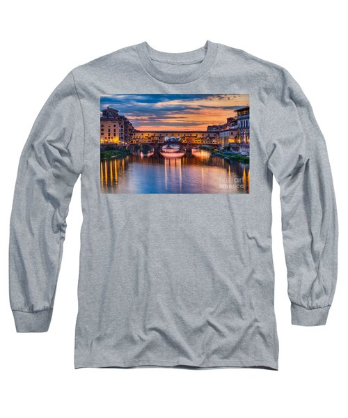 Ponte Vecchio At Sunset Long Sleeve T-Shirt