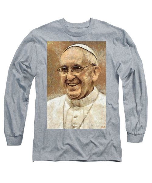 Pope Francis Long Sleeve T-Shirt by Dragica  Micki Fortuna