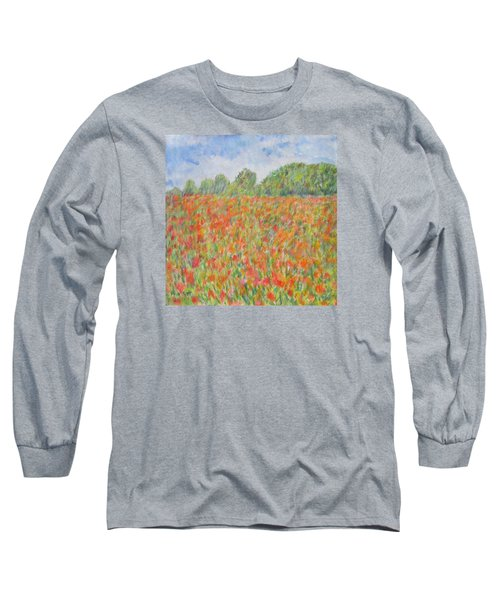 Poppies In A Field In Afghanistan Long Sleeve T-Shirt