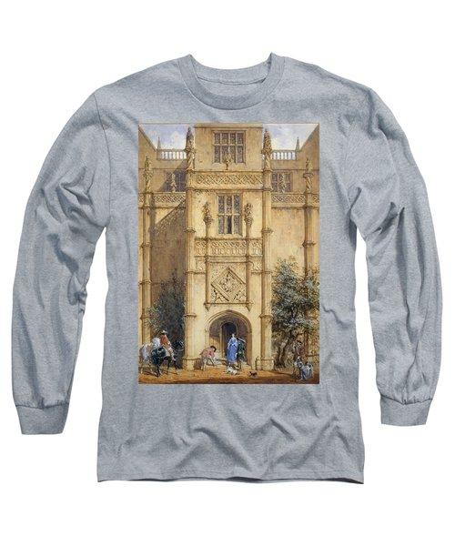 Porch At Montacute, 1842 Long Sleeve T-Shirt
