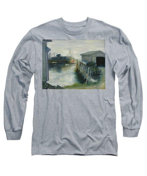 Port Clyde In Fog Long Sleeve T-Shirt