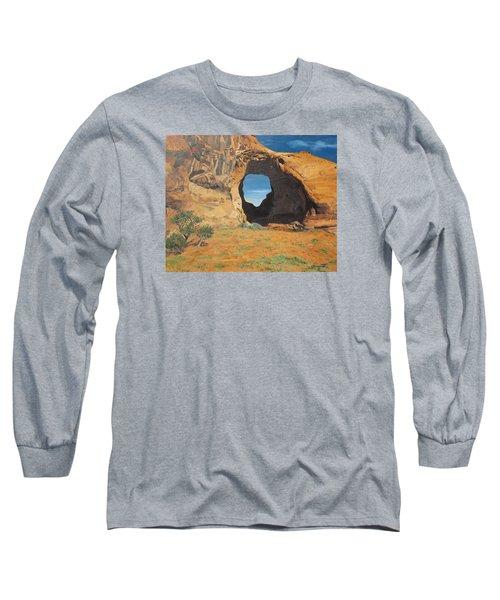 Portal At Window Rock  Long Sleeve T-Shirt by Barbara Barber