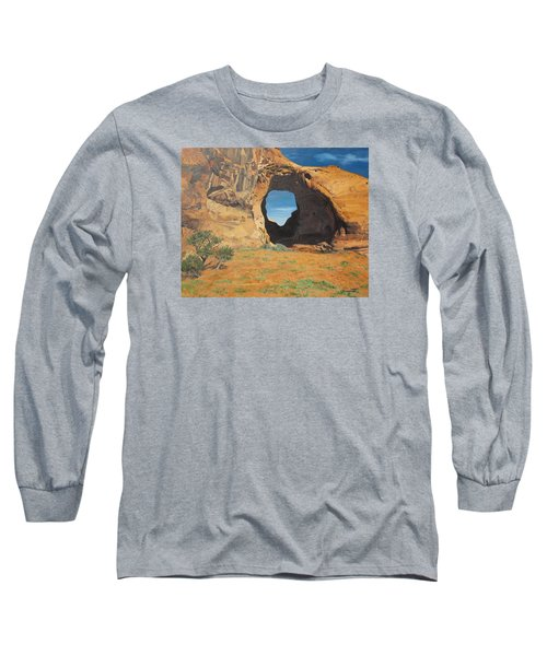Portal At Window Rock  Long Sleeve T-Shirt