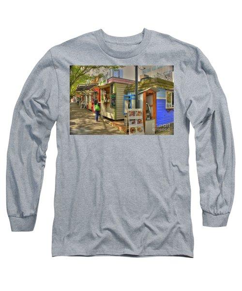 Portland Food Carts Long Sleeve T-Shirt by David Bearden
