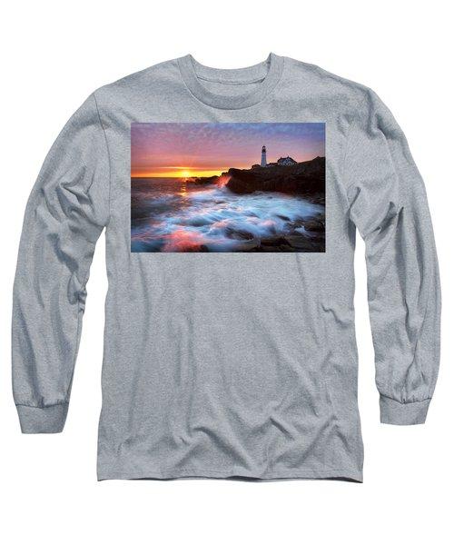 Portland Head Sunrise Long Sleeve T-Shirt