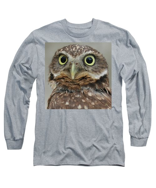 Portrait Of Burrowing Owl Long Sleeve T-Shirt