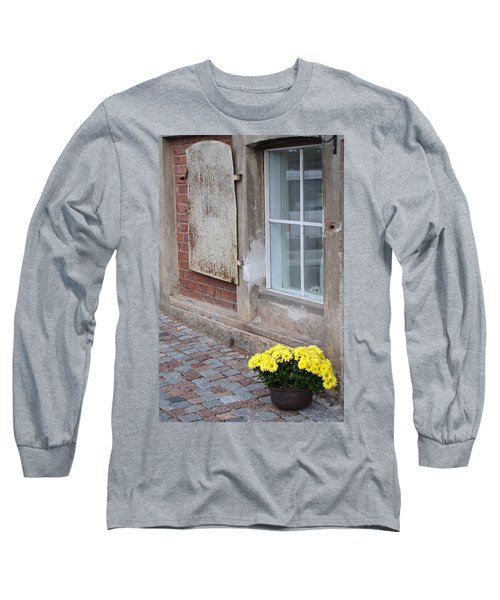 Potted Flowers  Long Sleeve T-Shirt by Richard Rosenshein