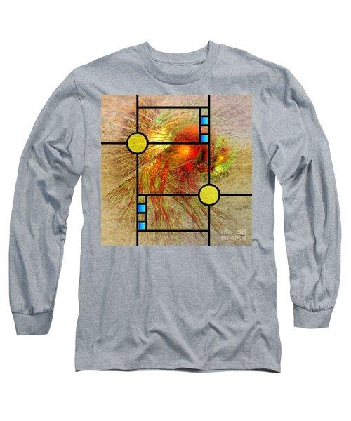 Prairie View - Square Version Long Sleeve T-Shirt by John Robert Beck