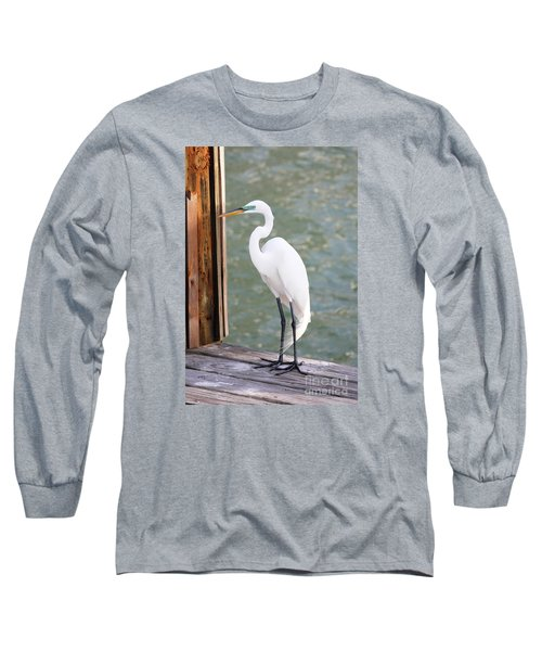 Pretty Great Egret Long Sleeve T-Shirt