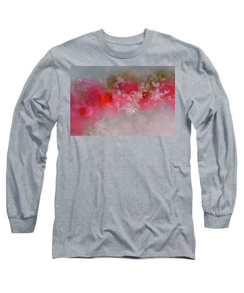 Long Sleeve T-Shirt featuring the photograph Pretty Little Snowflakes by Lauren Radke