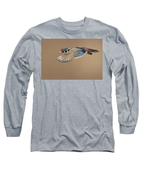Probably The Most Beautiful Of All Duck Species Long Sleeve T-Shirt by Mircea Costina Photography